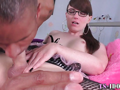 Lingerie transexual sperm mouth