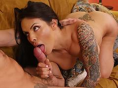 Latina TS Foxxy gets pounded hard by hunk big fuck rod