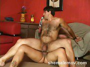 busty shemale enjoys sweet threesome sex 4