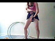 amateur blonde tranny dancing for you