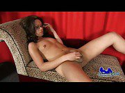 pretty shemale strips from pantyhose and jerking off