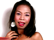 Filipino trans dances in lovely pink lingerie and wanks off