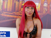 black ginger tranny godess solo toying ass