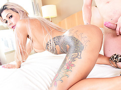 Hot shemale Polly wants Alex cock
