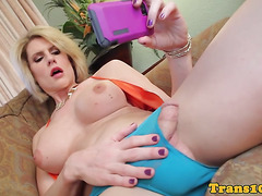 Tall transsexual interracial buttfucked