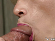 Hot blonde shemale gets her ass rimmed by pervert man