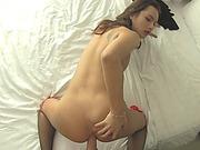 Sexy ladyboy Jele anal banged by big hard cock bareback