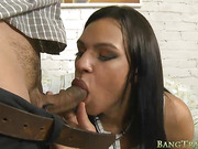 Big titted tranny gets her anal screwed in many poses