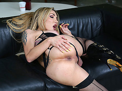 Sexy steamy vixen gets her ass banged by Spencer