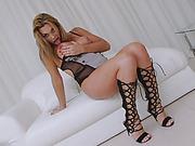 Big tits shemale Julie Berdu and pervert man anal fucking