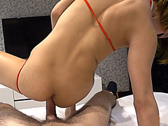 Petite young ladyboy nurse blowjob and anal drilling