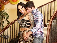 TS Foxxy fucked by her boyfriend